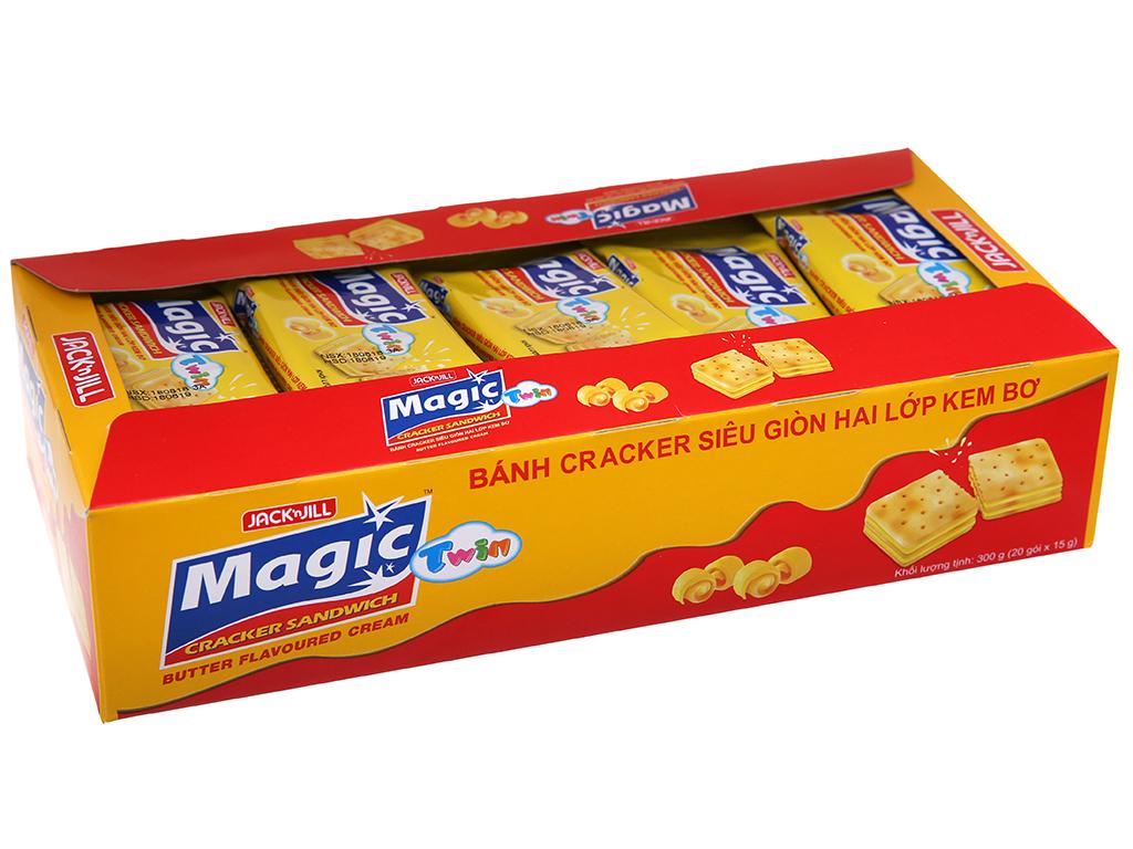 Bánh quy ngọt Magic twin butter kem bơ 2 lớp 210g 2