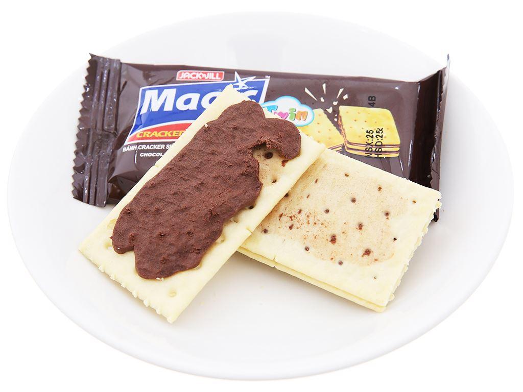 Bánh cracker hai lớp kem socola Magic Twin hộp 300g 4