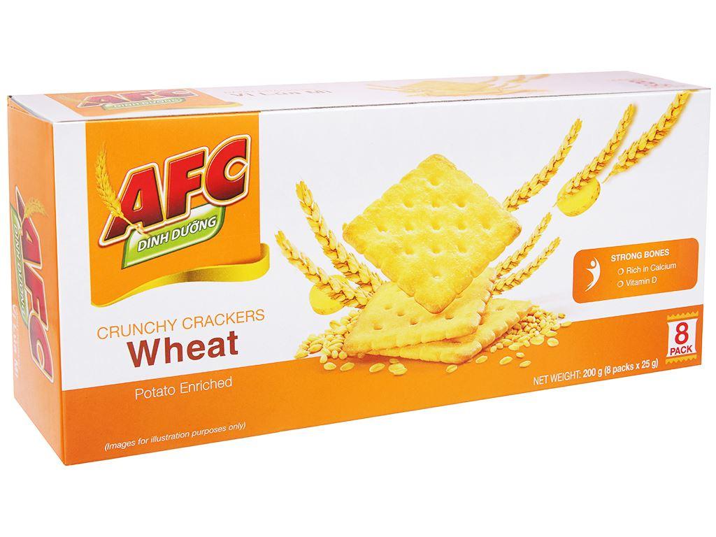 Bánh cracker lúa mì AFC Dinh Dưỡng hộp 200g 1