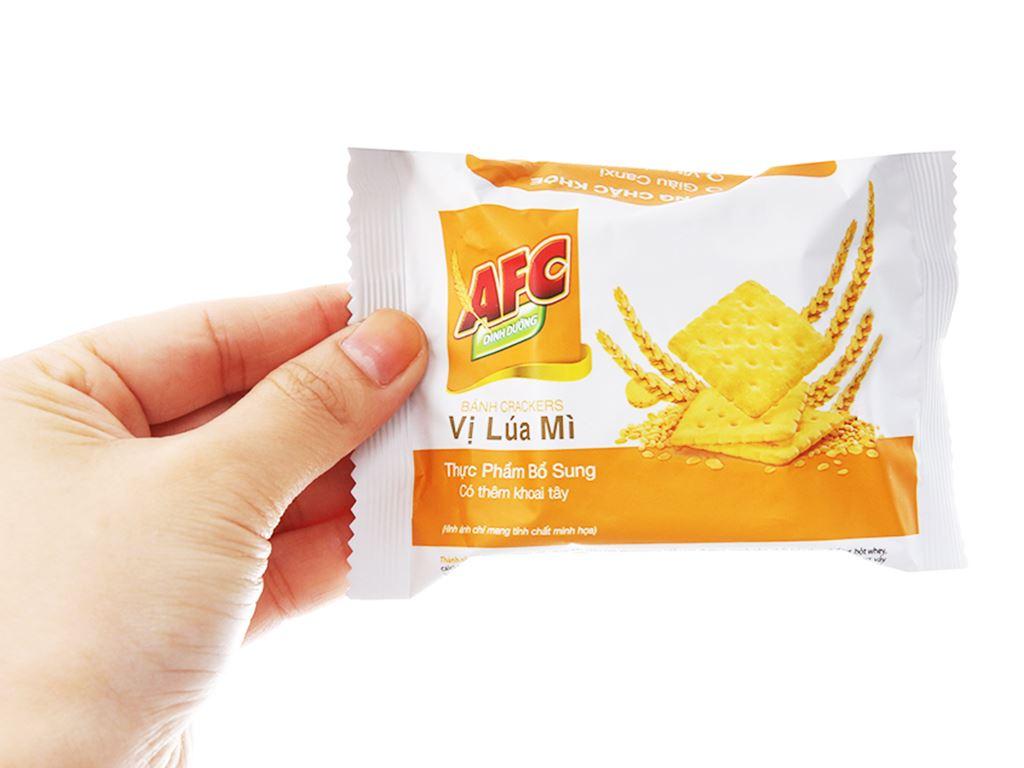 Bánh cracker lúa mì AFC Dinh Dưỡng hộp 200g 4