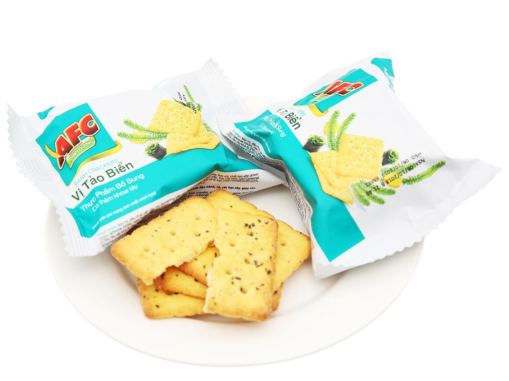 Bánh cracker vị tảo biển AFC Dinh Dưỡng hộp 200g 4