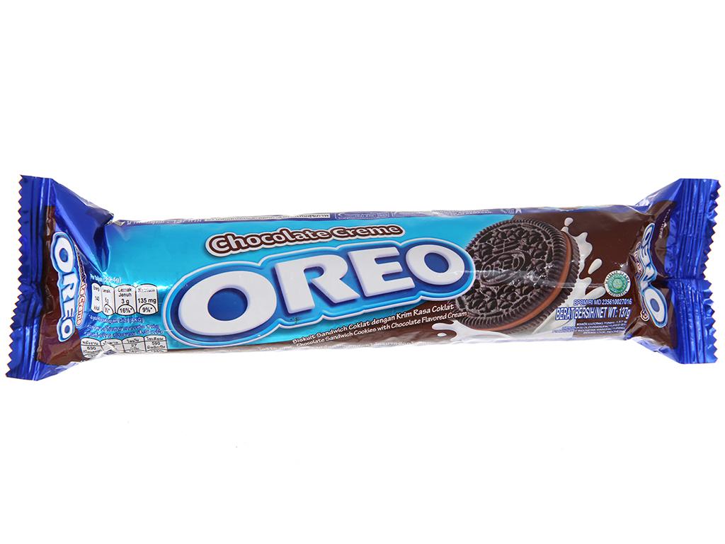 Bánh quy socola nhân kem socola Oreo gói 133g 2