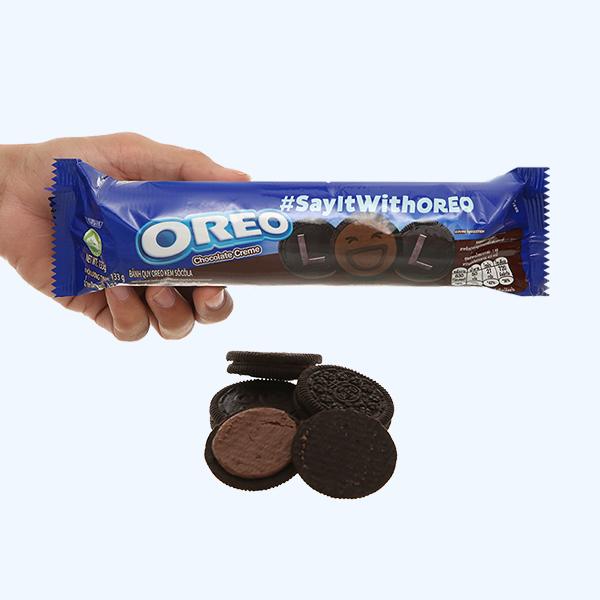Bánh quy Oreo kem socola gói 133g