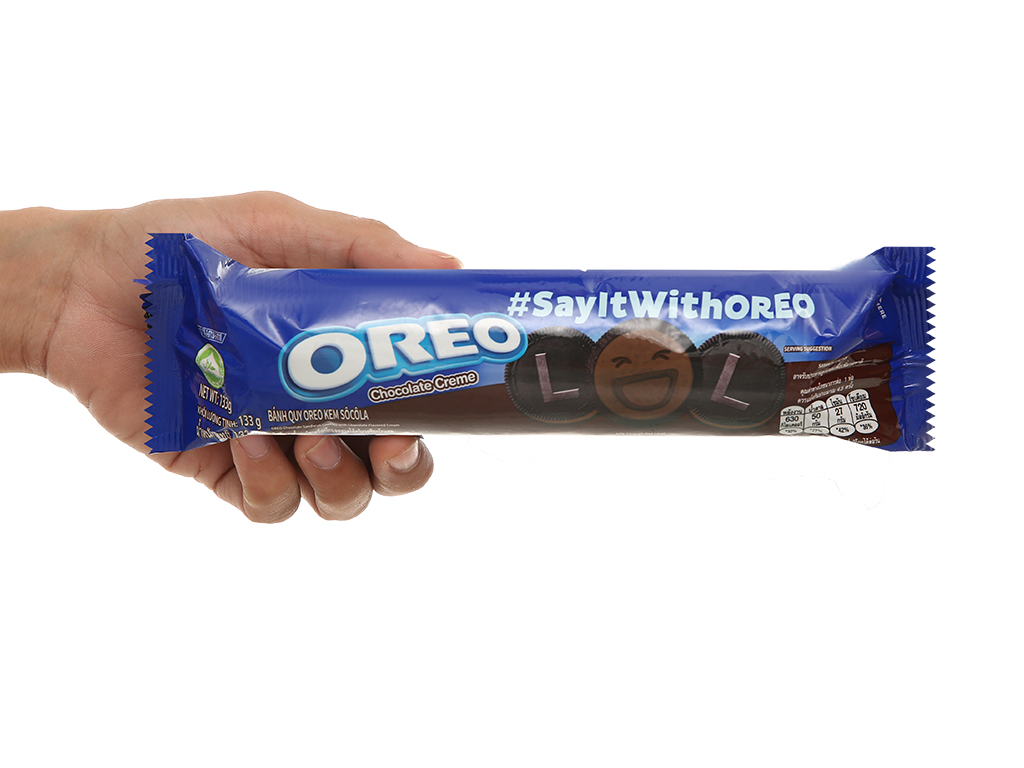 Bánh quy Oreo kem socola gói 133g 4