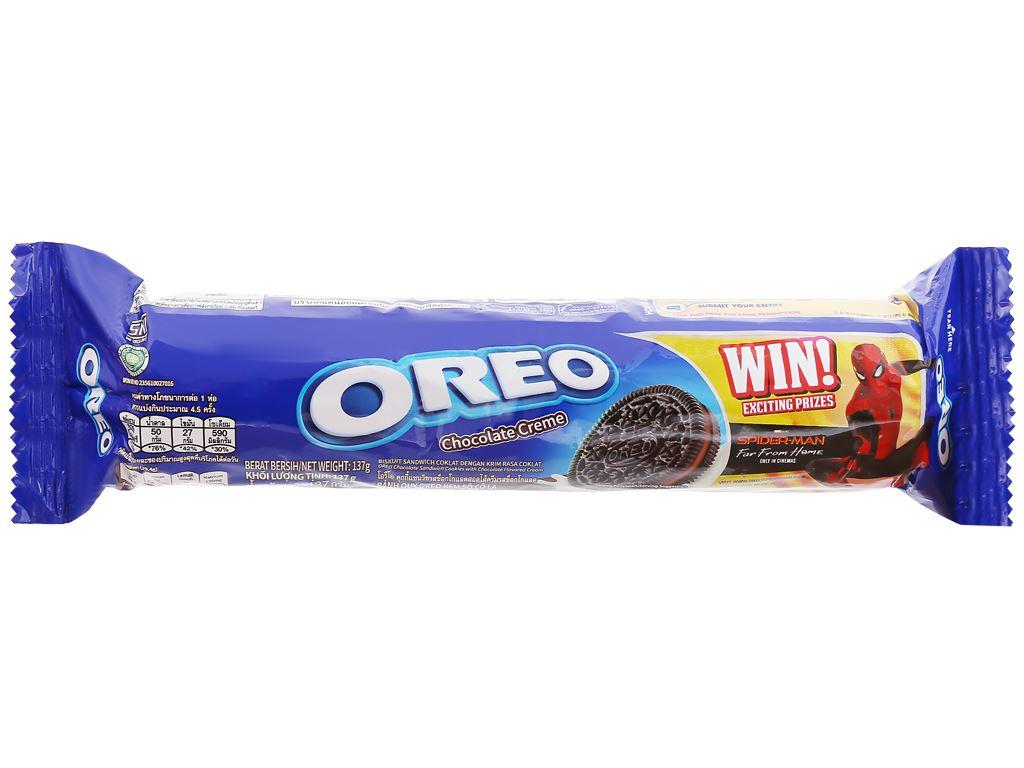 Bánh quy Oreo kem socola gói 133g 1