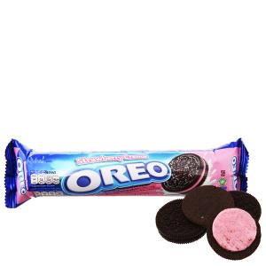 Bánh quy kem dâu Oreo gói 133g