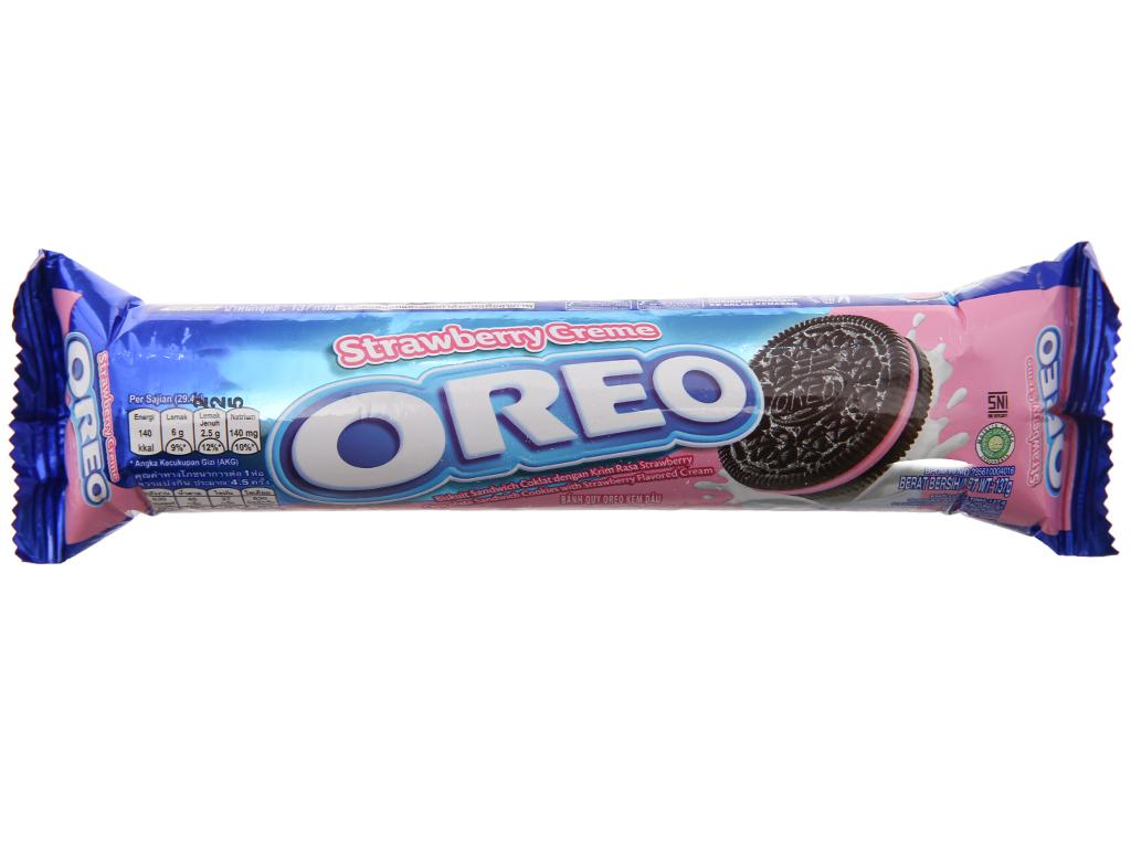 Bánh quy ngọt Oreo kem dâu 137g 2