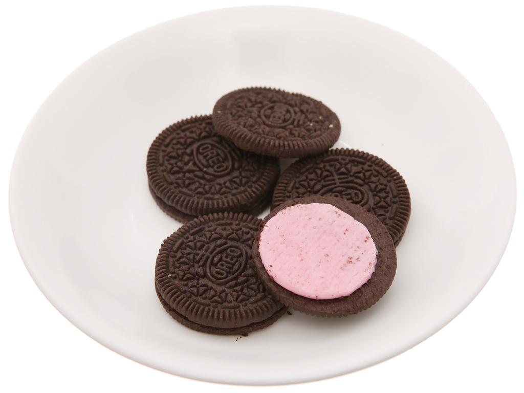 Bánh quy kem dâu Oreo gói 137g 6