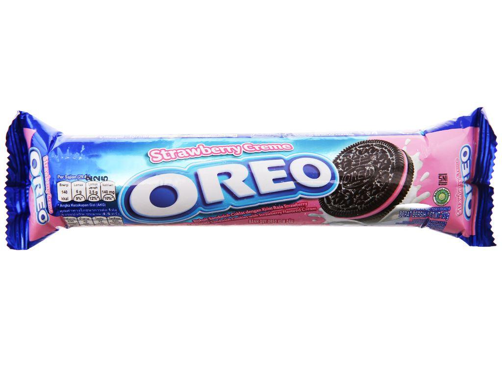 Bánh quy Oreo kem dâu gói 133g 1