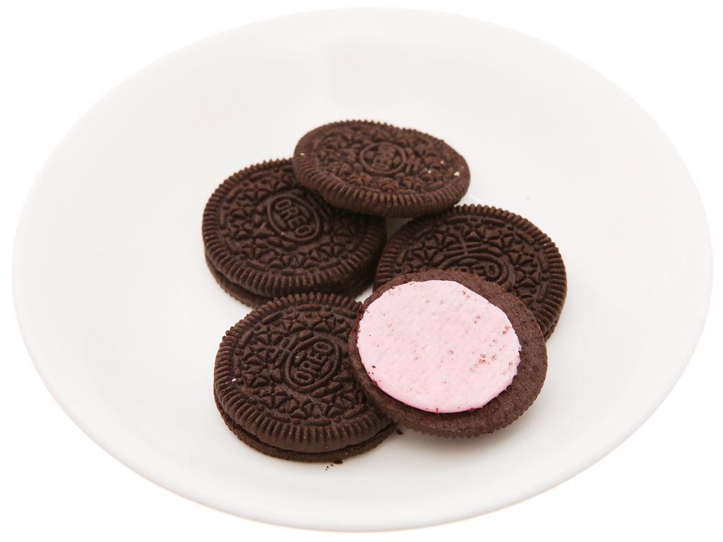 Bánh quy Oreo kem dâu gói 133g 4