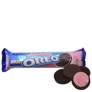 Bánh quy kem dâu Oreo gói 137g