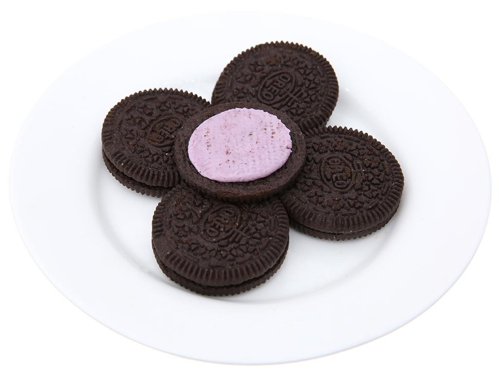 Bánh quy socola nhân kem việt quất Oreo gói 137g 6