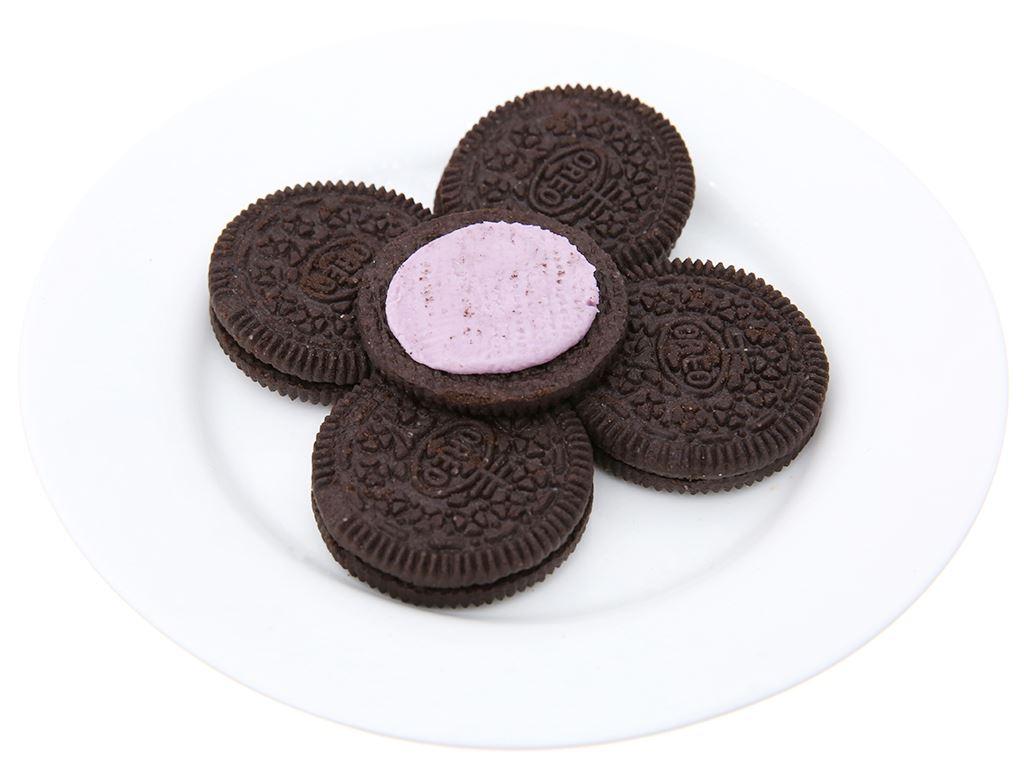 Bánh quy socola Oreo kem lạnh việt quất gói 133g 4