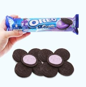 Bánh quy socola Oreo kem lạnh việt quất gói 133g