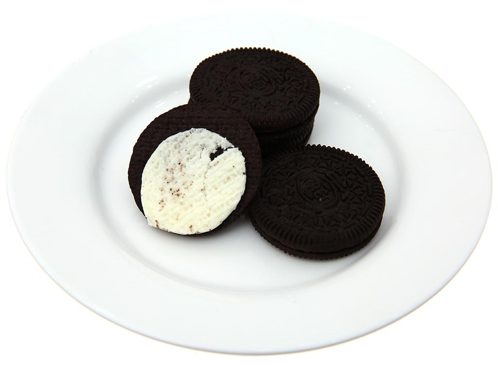 Bánh quy socola nhân kem vani Oreo gói 137g 4