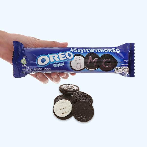 Bánh quy nhân kem vani Oreo gói 133g
