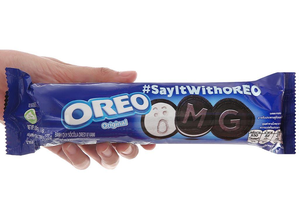 Bánh quy nhân kem vani Oreo gói 133g 5
