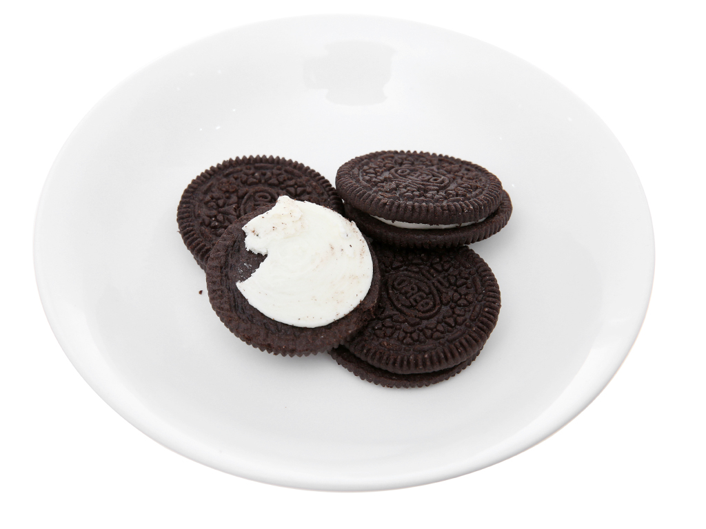 Bánh quy ngọt Oreo kem vani 68.5g 4
