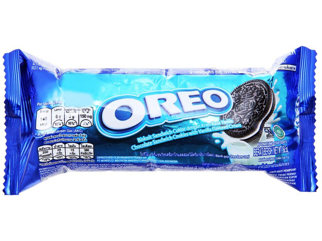 Bánh quy nhân kem vani Oreo gói 66.5g 1