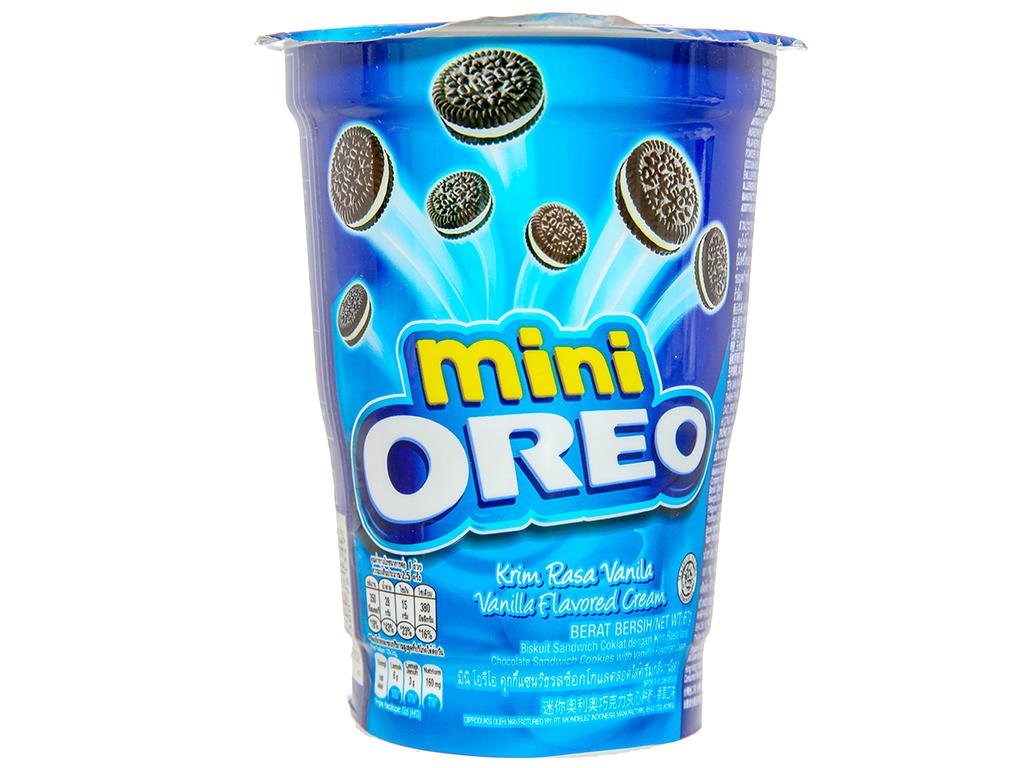 Bánh quy socola kem hương vani Oreo Mini ly 67g 1