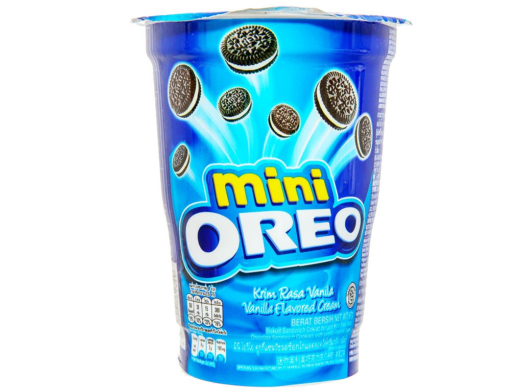 Bánh quy kem vani Mini Oreo ly 67g 2