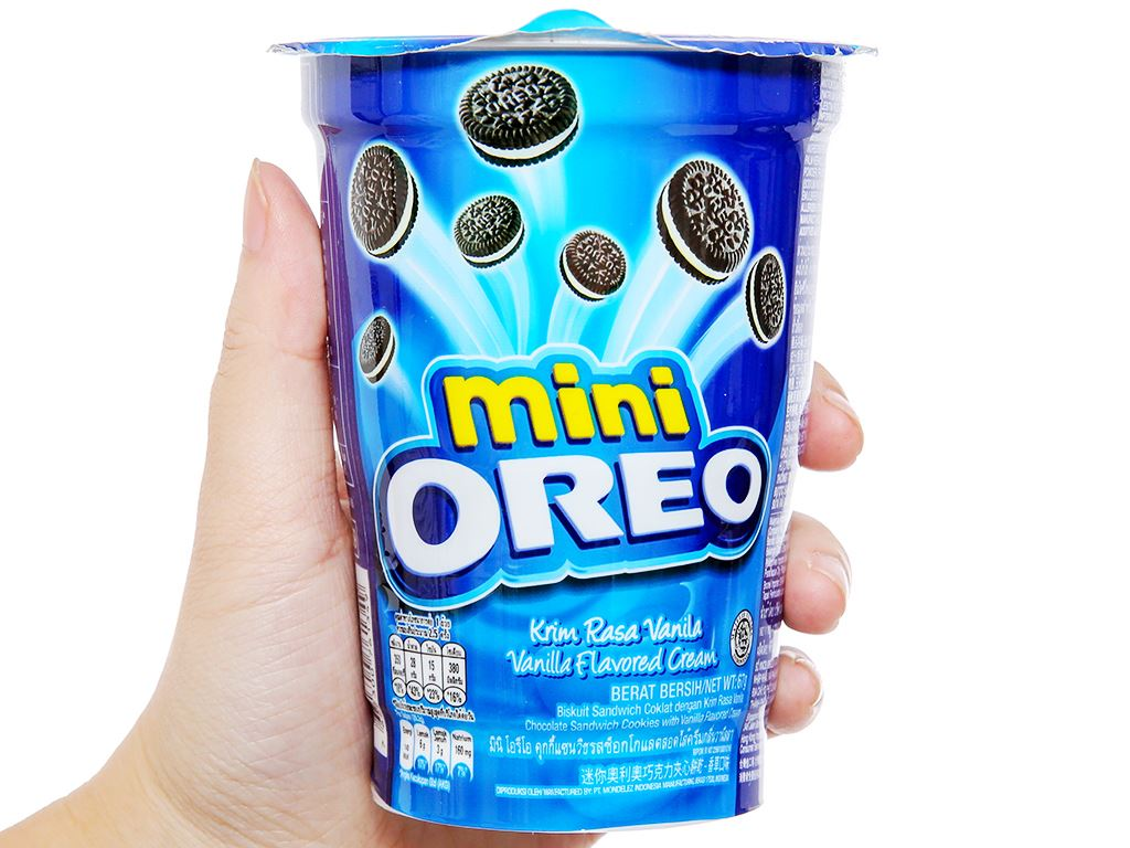 Bánh quy kem vani Mini Oreo ly 67g 4