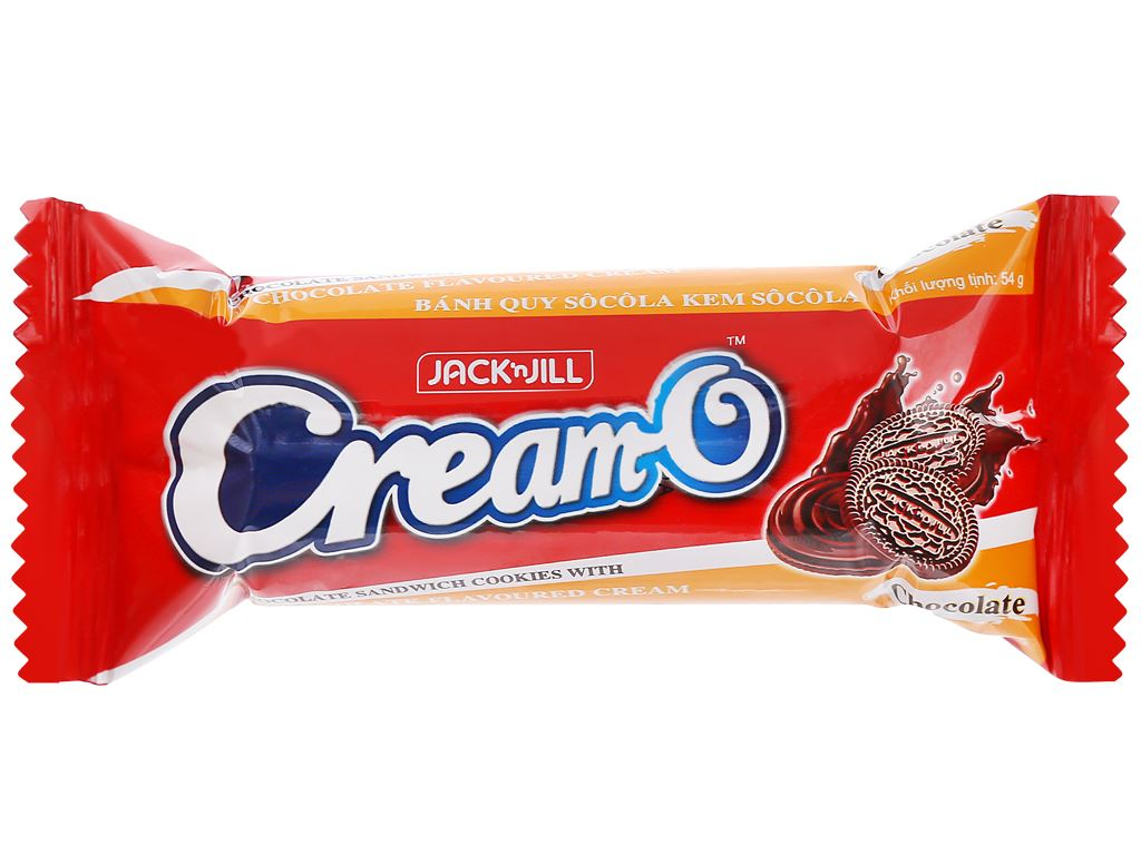 Bánh quy socola nhân kem socola Cream-O gói 54g 4