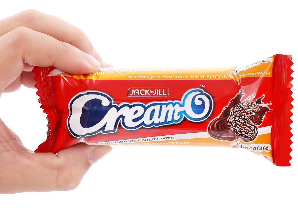 Bánh quy socola nhân kem socola Cream-O gói 54g 7
