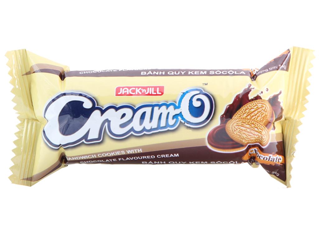 Bánh quy Nhân kem hương socola Cream-O gói 54g 2