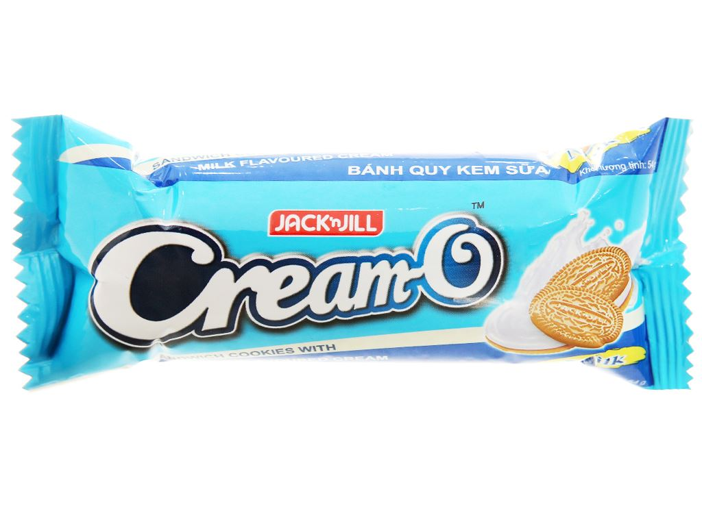 Bánh quy nhân kem sữa Cream-O gói 54g 2