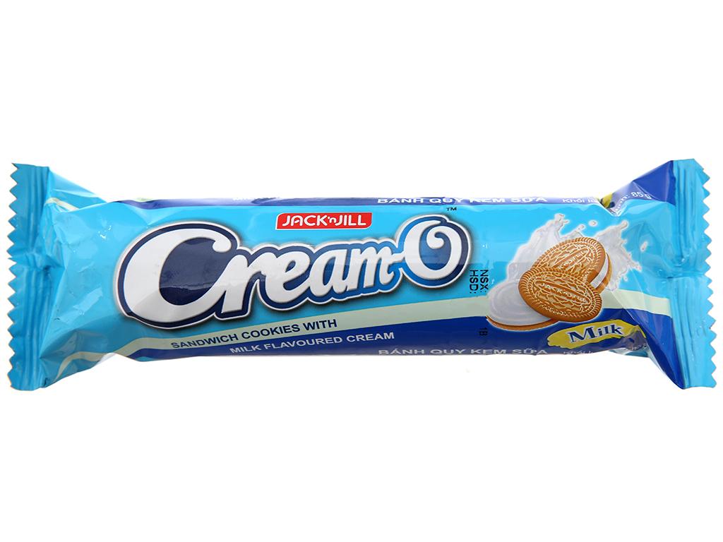 Bánh quy Nhân kem hương sữa Cream-O gói 85g 1