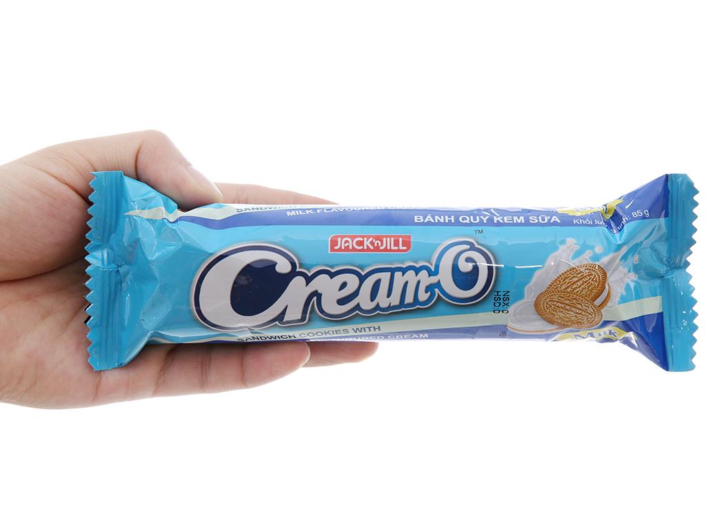 Bánh quy Nhân kem hương sữa Cream-O gói 85g 4
