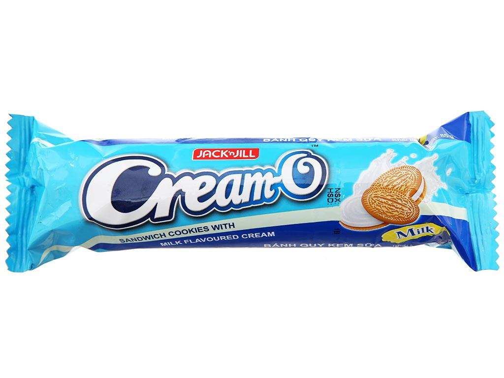 Bánh quy nhân kem sữa Cream-O gói 85g 2