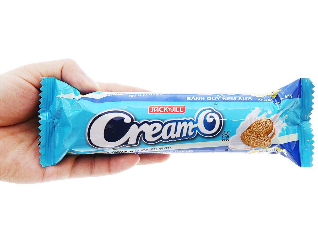 Bánh quy nhân kem sữa Cream-O gói 85g 4