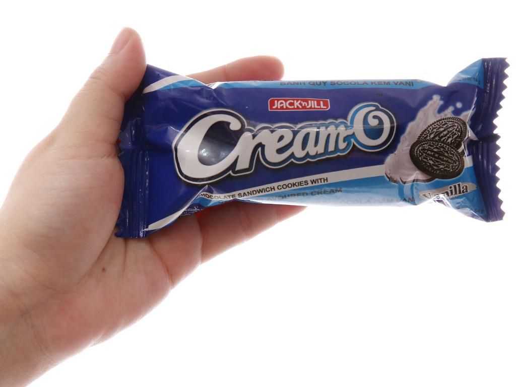 Bánh quy socola Nhân kem hương vani Cream-O gói 54g 4