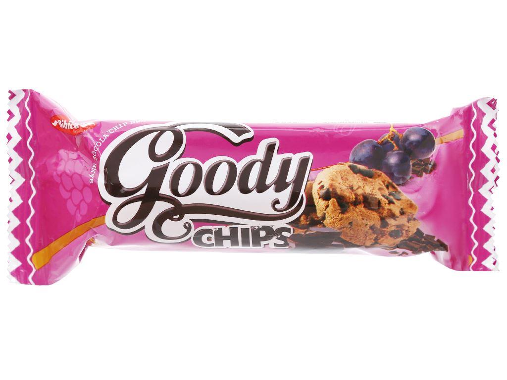 Bánh quy sôcôla chip nho Goody Chips gói 80g 1