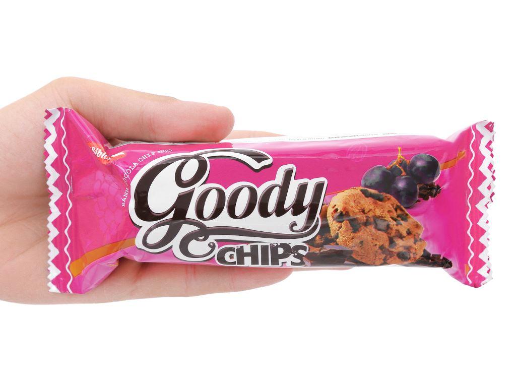 Bánh quy sôcôla chip nho Goody Chips gói 80g 6