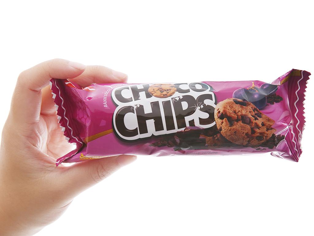 Bánh quy sôcôla chip nho Choco Chips gói 80g 5