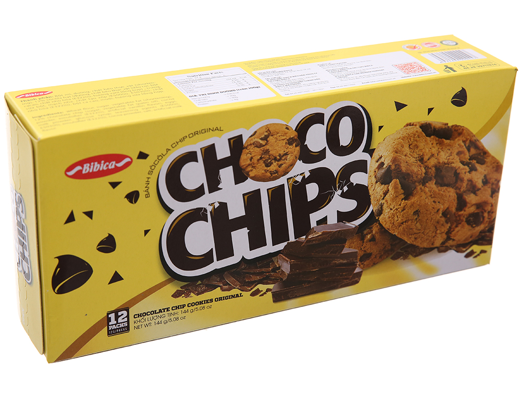 Bánh quy sôcôla chip Original Choco Chips hộp 144g 2