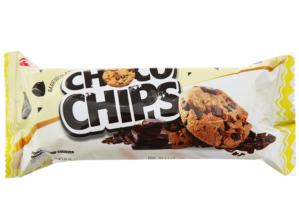 Bánh quy hạt socola Choco Chips gói 80g 1