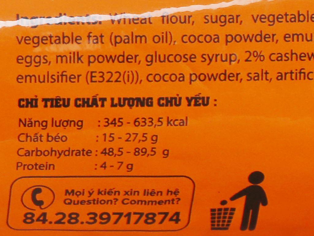 Bánh quy socola chip hạt điều Goody Chips gói 80g 4