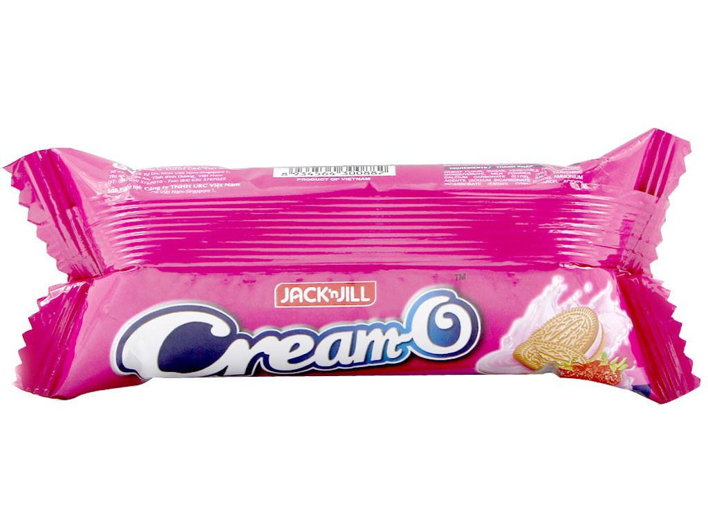 Bánh quy nhân kem hương dâu sữa chua Cream-O 54g 3