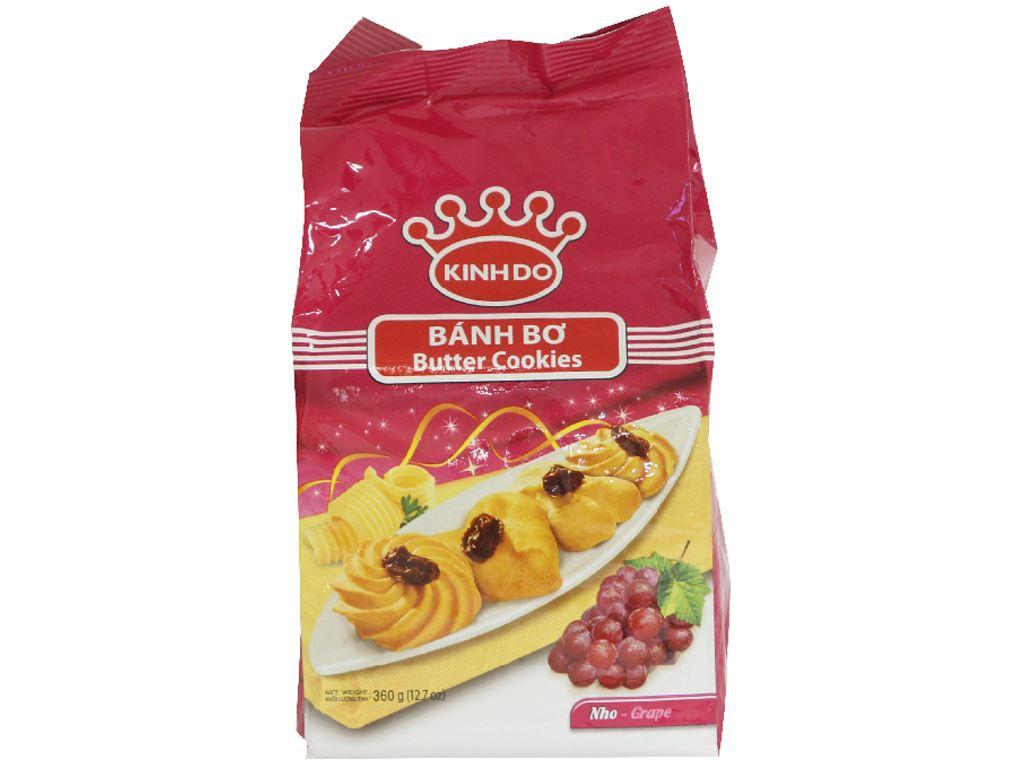 Bánh quy bơ nho Kinh Đô gói 360g 1