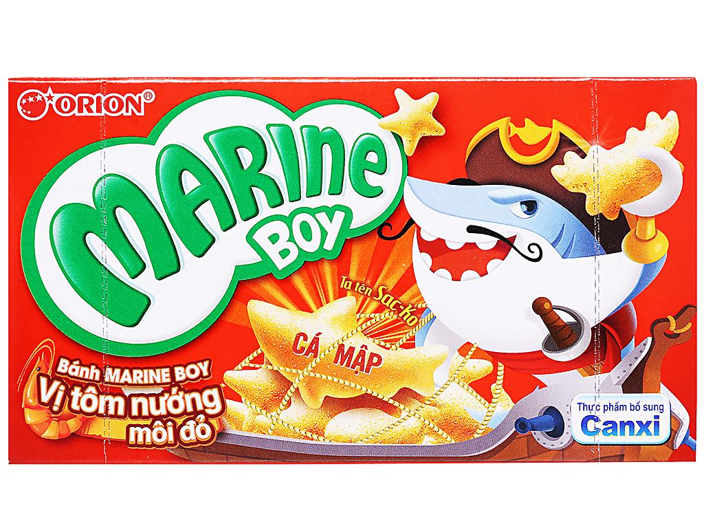 Bánh cá vị tôm nướng môi đỏ Orion Marine Boy hộp 32g 1