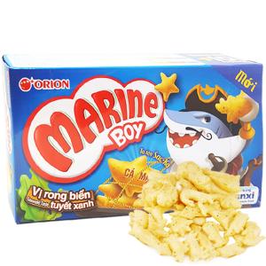 Bánh cá vị rong biển tuyết xanh Orion Marine Boy hộp 32g