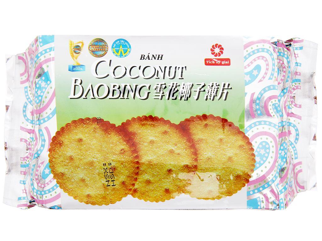 Bánh quy phủ đường Coconut Baobing gói 180g 2