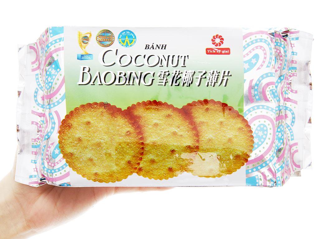 Bánh quy phủ đường Coconut Baobing gói 180g 4