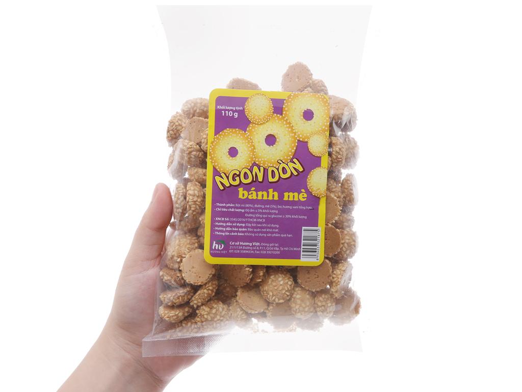 Bánh quy mè nhỏ Hương Việt gói 110g 5