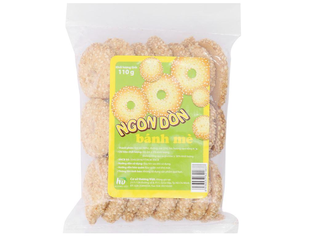 Bánh quy mè lớn Hương Việt gói 110g 2