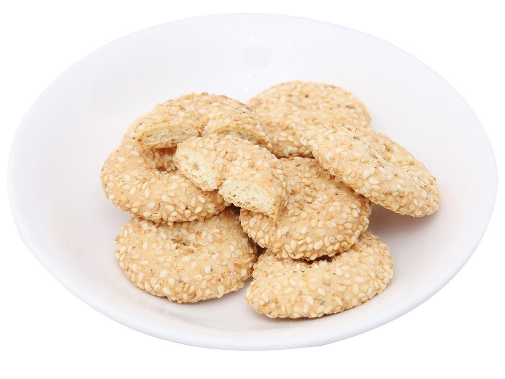 Bánh quy mè lớn Hương Việt gói 110g 4